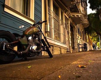 Sidewalk Motorbike