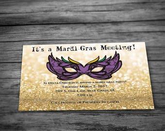 Mardi-Gras Party Invitation