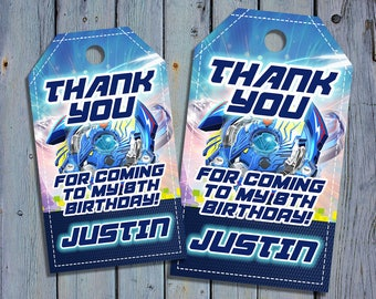 Beyblade Birthday Thank You Tags, Beyblades Burst Favor Tag, Bey Blade Printable Digital Labels, Goody Bag Tags, Hang Label Tags