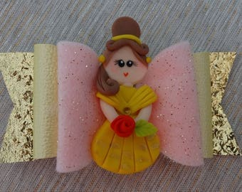 Bell Bow Hair Clip Girls Bow Chic Bow Leather Girls Hair Bow