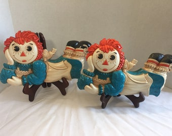 Vintage 1977 Raggedy Ann Wall Hangings
