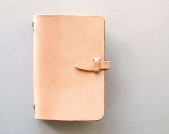 Leather Moleskine Notebook Cover, Minimalist Journal Cover, Field Notes Book Cover, 3 1/2 by 5 1/2 Book, Unisex Gift, Gift for Him