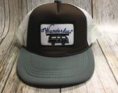 Toddler/Kids Trucker Hat- Wanderlust Patch -Brown/Gray ...