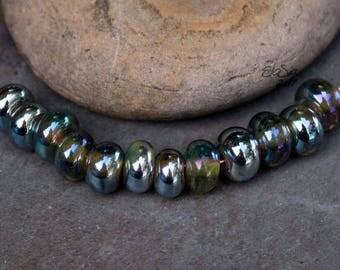 Fairy Spacers - Handmade Lampwork Glass Spacer Beads - SRA Elasia - MTO