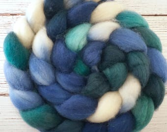 Handpainted Superwash BFL Nylon 80/20 Sock Roving - 4 oz. DENALI - Spinning Fiber