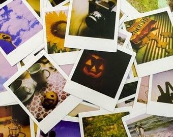 SALE 45pcs RETRO POLAROID Stickers Tiny Glossy Adhesive Moments