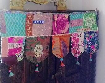 Tassel Pelmet, Door or Window, Wall Decor, Toran, Vintage Textiles, Beaded, Embroidery, Gypsy, AllThingsPretty, Bohemain, Boho Decor