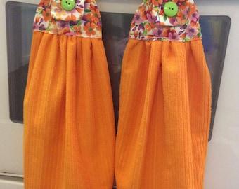 Bright Orange Kitchen Towels