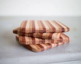 Set of Four Wood Coasters