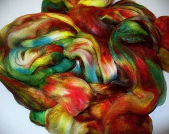 Faux Cashmere Top Hand Dyed  for Hand Spinning Yarn or Blending Fibers