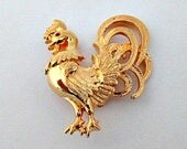 Rooster Vintage Brooch Pin - Rooster Pin Jewelry Gift