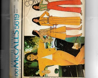 McCall's Misses' Shirts, Unlined Jacket, Culottes  and Pants Pattern 5619