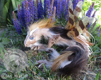 Dragon Art Doll Sculpture Fairy Collectible OOAK