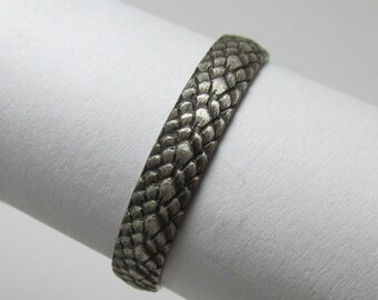 Dragon Scale ring Oxidized Sterling Silver Size 5 1/4