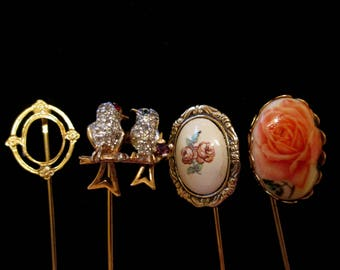 Vintage Lapel Stick Pin Lot