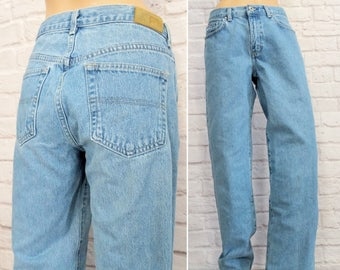 Vintage Tommy Hilfiger Jeans Early 00s Mid Rise Straight Leg Jeans Size 8 Medium Women's