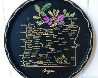 vintage Oregon souvenir tray