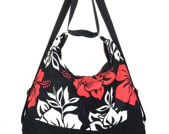 Backpack purse,Convertible bag, Floral shoulder bag, Slouch purse,Convertible backpack, Women backpack, Multicolour bag, Ready to ship