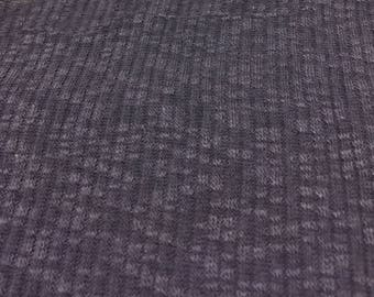 Ribbed Design Speckled Hacci Knit Fabric 1-3/4  Yards