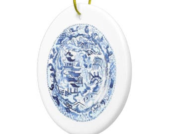 CHINOISERIE Plate CHRISTMAS ORNAMENT
