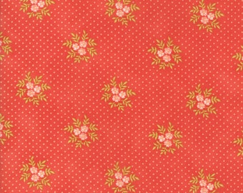 Ella and Ollie - Posies in Strawberry Red : sku 20307-11 cotton quilting fabric by Fig Tree and Co. for Moda Fabrics