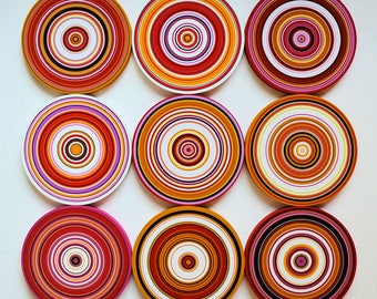Large wall art / Original Artwork Abstract Paintings  Wood Sculpture Modern Colorful Decor Wooden / Circles Decor Contemporary painting