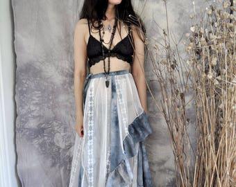 boho wrap skirt // space dream