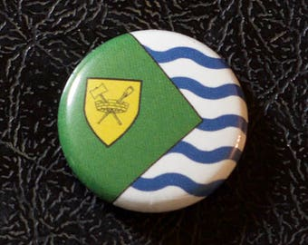 "1"" Vancouver BC flag button - British Columbia, Canada, city, pin, badge, pinback"