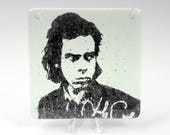 Nick Cave Fused Glass Coaster