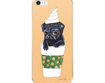 Pug Dog iPhone Case, Fall Phone Case, Pumpkin Spice, Cute iPhone Case, Gifts For Girls Under 20, Pug Dog Lover Gift, Pug Phone Case, PSL