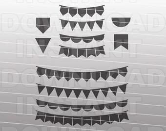 Bunting Banner SVG File,Banner Design SVG File -For Commercial & Personal Use- Vector Art,svg for Cricut,Silhouette Cameo,vinyl design,htv