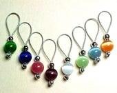Handmade Rainbow Cats Eye Stitch Markers - US 5 - Item No. 510