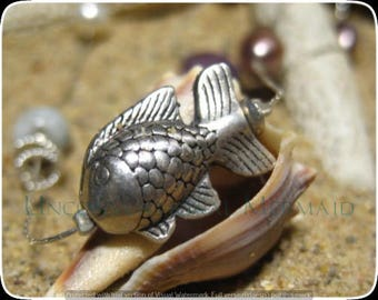 """40"""" Long Fish Mix Tin Cup Sterling Silver Mermaid Necklace/Bracelet 5X"""