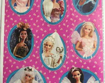 Barbie, Vintage, Single Sticker Sheet, 1997, Scrap Booking, Sticker Collecting, Hallmark, Craft ~ The Pink Room ~ 161220
