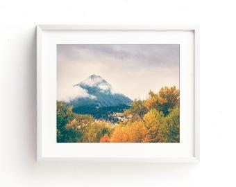 "landscape, mountains, wilderness, forest, trees, large art, large wall art, modern, contemporary, wall art, art prints, fine art - ""Changes"""