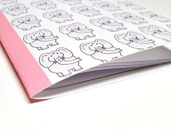 Elephant Notebook - Journal - School Notebook - Bullet Journal - Party Favor Note Book - Travelers Notebook - Elephant Notebook for Kids