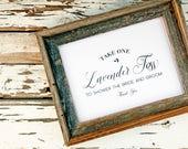 Lavender Toss - Favor Sign - Printable - DIY Wedding Signage - Lavender Send off