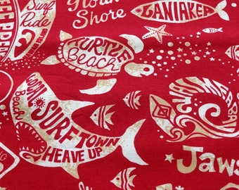 Fabric, Jaws, Surftown, Fabric by the Yard