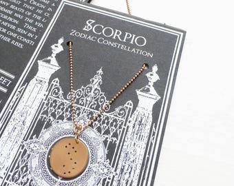Rose Gold//Zodiac Constellation pendant necklace//Zodiac constellation//Minimalist necklace//Circle pendant//Ball chain//Pink Gold