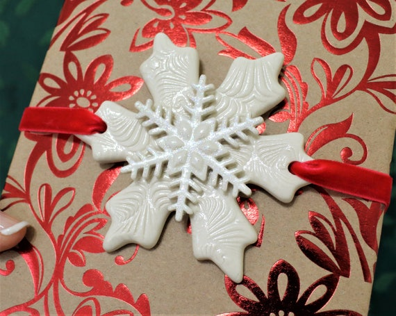 X-mas Package Decoration - Gift Wrapping - Wrapping Decoration - Package Decoration - Gift Decoration - Snowflake - Keepsake Ornament