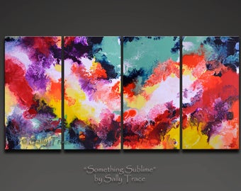 Abstract Art Giclee Prints on Stretched Canvas, from my Original Abstract Paintings, Something Sublime