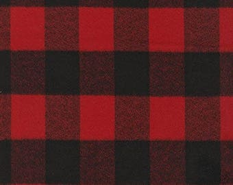 Robert Kaufman FABRIC - Mammoth Flannel in Red Buffalo