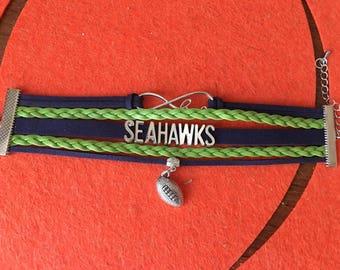 Seattle Seahawks NFL Football bracelet