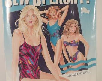 Swimsuits Sew Splashy Stretch and Sew Pattern Book 11 Designs Ann Person Tank Suits Bikinis Sizes 30-46 Stretch Fabric Cutting Layouts Uncut