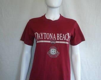 Closing Shop 40%off SALE Daytona Beach Florida vintage t shirt, tourist souvenir t shirt
