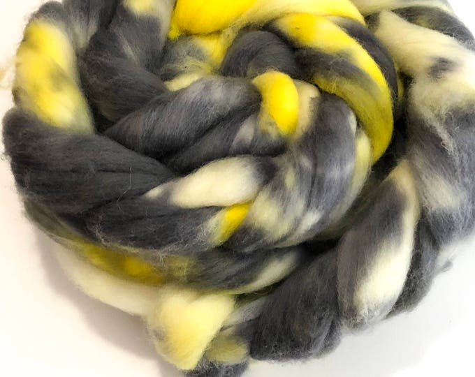 Kettle Dyed Cheviot Wool top. Roving.  Spin or felt. Soft and easy to work with. 1lb. Braid. Ted
