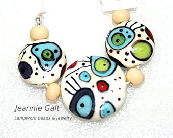 Lampwork  Art Beads by Jeanniesbeads #2096