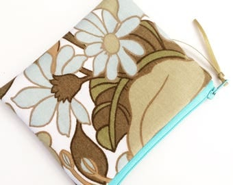 Vintage Floral Fabric Coin Purse