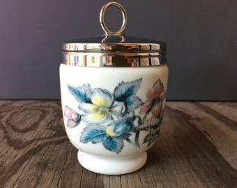 Large Vintage Porcelain Egg Coddler by Royal Worcester - Made in England