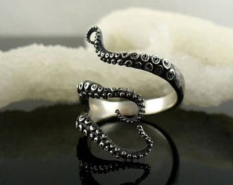 SALE Wicked tentacle ring, Octopus ring, tentacle ring, OctopusME, wedding band, engagement ring, Cthulhu, steampunk, tentacles, bague, krak